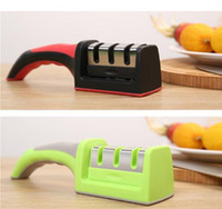 Wholesale Knifes Sharpener Three Stages Diamond Ceramic Steel Kitchen Sharpening Stone Household Knife Sharpener Kitchen Knives Tools Supplies