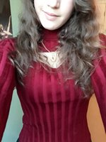 anime knitting - 2017 New Women Fashion Sexy Anime Keyhole Striped Sweater Turtleneck Knit Pullovers Lovely Open Chest Cutout Outfits