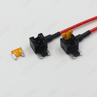 Wholesale Auto Car MICRO2 Fuse Box TAP Add A Circuit Plggy Back MICRO standard blade Mini Fuse Holder Socket Cable cm