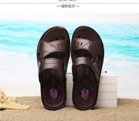Wholesale 2016 new men s summer men s sandals sandals male breathable leather sandals slippers sandals men s casual