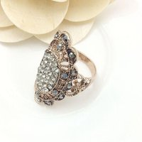 antique jet - Mavis Ornament Hot Sale Gold Rings Fashion Jewelry New Women s Party Antique Rose Gold Plating Jet Crystal Ring High Quality Free Shipp