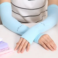 Wholesale Fashion women sunscreen elbow gloves oversleeve female male summer ice silk kneecap arm and knee care sports riding holiday