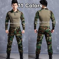 Wholesale Army military uniform german acu multicam camo combat shirt emerson tactical pant kryptek mandrake camouflage suit paintball equipment acu