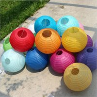 chinese lanterns - 8 inch Chinese Paper Lantern Ball Round Lamp Wedding Decoration Festival Birthday Party Decoration Lampion cm Several Colors DHL