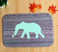 advertising mats - 5 design elephant carpets rugs New Rainbow polyester printed custom printed advertising carpet mats waterproof non slip mats in fr