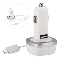 Wholesale Car Charger Traval Quick Charge Rapid USB Power With V8 Cable For iPhone Samsung Cell Phone Portable
