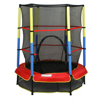Wholesale Exercise quot Round Kids Youth Jumping Trampoline Safety Pad Enclosure Combo