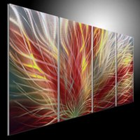 Wholesale oil painting art home decor original metal painting wall