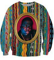 achat en gros de animaux crewneck sweatshirt-Grossiste-Biggie Sweat-shirt à col roulé Notorious B.I.G. Pulls et pulls