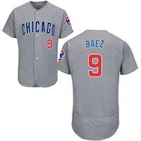 Wholesale Men s Chicago Cubs Javier Baez Grey Home MLB Baseball Jersey Grey Size S XL