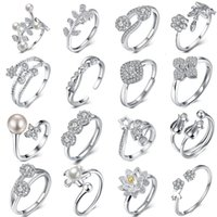Wholesale New products listed fashion jewelry Sterling silver women ring mixed order