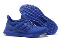 Wholesale 2016 Hot Sale Deep Blue Men s Originals Quality Ultra Boost Shoes Mens Tennis Traning Shoes
