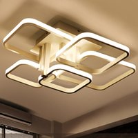 Wholesale Dimmable LED Ceiling Lights White Acrylic Indoor Lighting for Dining Room Restaurant Lighting Modern New Design LED Lamp CE ROHS