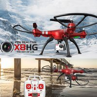 Wholesale 2016 New Arrival Syma X8HG With MP HD Camera Altitude Hold Headless Mode Wind Resistance G CH Axis RC Quadcopter RTF