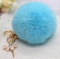 best car colors - The best quality real rabbit fur ball plush key chain for car key ring Bag Pendant car keychain Good quality colors