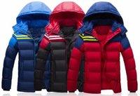 big blue worsted - Hooded Red Black Blue Big Size XL Size White Down Cotton Warm Winter Jacket Men Campera Pluma Hombre Jacket
