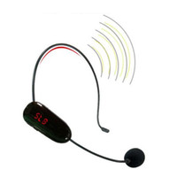 Wholesale FM Wireless Microphone Headset Megaphone Radio Mic For Loudspeaker Teaching Meeting Tour Guide Microfones