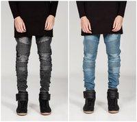 name brand jeans - New arrival men s long jeans designer brand name denim jeans European Fashion Mens Straight Slim Fit Trousers Biker Jeans
