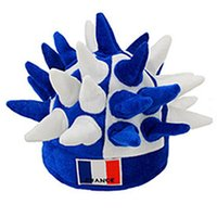 Wholesale 2016 France Euro Cup Brazil Olympic Games carnival party funny crazy football team fan hat hedgehog shape
