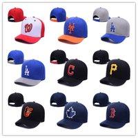 Wholesale Letter LA baseball cap KC B NY H P snapback hat American baseball cap flat brimmed hat