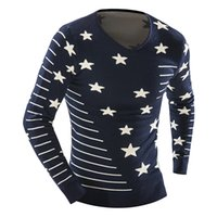 Wholesale Hot High Quality Men S Pullovers And Sweaters Fashion The Stars Shape Embroidery Men S Sweaters High End Knitwear