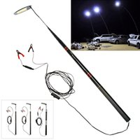 Wholesale Super bright Telescopic Rod Camping Lantern for Self drive Travel Desert Prairie Seaside Beach Camp Patio BBQ Grill Party Fishing