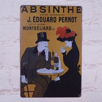 absinthe art - Have A Date With Absinthe Retro Metal Tin Sign Wall Decoration