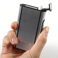 Wholesale Aluminum Pocket Cigarette Case Automatic Ejection Silver Box Holder new arrival