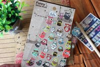 Wholesale Korean DIY Multifunction Funny Owl deco PVC sticker stationery stickers for kids Decoration label gift