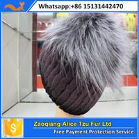 alice knitting - Alice fur sexy women knitted rex rabbit fox fur hat