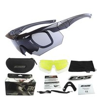 Wholesale ESS CROSSBOW Ballistic Sports Goggles Polarized Army Sunglasses with Original Case Lenses Outdoor Sports Eyeshields Military Sun Glasses
