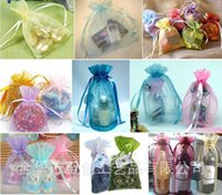 Wholesale Jewelry Bags MIXED Organza Jewelry Wedding Party Xmas Gift Bags Purple Blue Pink Yellow Black With Drawstring cm