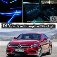 amg tuning - interior Ambient Light Tuning Atmosphere Fiber Optic Band Light For Mercedes Benz CLS MB W218 W219 Door Panel illumination Refit