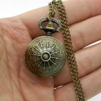 ball womens watch - Spider Web Ball Necklace Pendant Pocket Watch Chain Womens Lady Gift P65