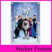 Wholesale Frozen Movie Wall Stickers Home Decor Window Wall Cartton Vinyl Wall Stickers Removable d Wall Decals Art Of Frozen ZY1419