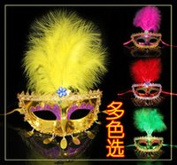 beauty free uppers - DHL Womens Mask Party Feather Beauty Masks Venice Painted Princess Mardi Gras Costume New Arrival yp