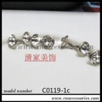 achat en gros de boutons strass jean-mm rivet strass pour jean / vêtement, métal argenté avec rhinestones.500sets clair / lot, bouton strass 6mm, # 072041 boutons M67886 rivet f ...