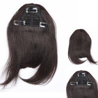Wholesale Clip In On Human Hair Bangs Hair Fringe clips Franja Aplique Cabelo Blonde Hair Piece Hairpiece Extensiones