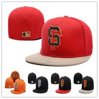 Wholesale San Francisco Giants Fitted Hats Baseball Caps Fits Cap Size Flat Brim Ball Cap Team Sports Fashion Hat