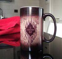 Wholesale New Harry Potter changing color mugs Marauders Map mug mischief managed mug morphing coffee mugs transforming Tea Cups