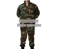 Cheap Wholesale-Emerson Woodland BDU Combat Uniform military army suit camouflage shirt & pants woodland FED