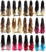 Wholesale g Synthetic Claw Ponytail Clip In On Hair Extension Wavy Curly Style Ombre Two Tone Pony Tail Hair Pieces