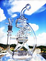 bar glass types - 2016 Grinder Enjoylifeworld K62 Klein Recycler Pink Tall Vapor Rig Scientific Bong Phonix Glass Water Pipe Pulse Bio Dabrigs Waterpipe Bar