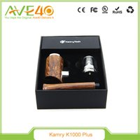 Cheap 2016 Original Kamry K1000 Plus Starter Kit E Pipes Vape Epipe Mods Vaporizer LED Light Ring 1000mah Battery E Cigarette Tank Atomizer