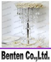 beaded chandelier centerpiece - 5 tier H100cm Hanging Acrylic Crystal beaded Wedding Table Chandelier centerpiece with stand LLFA6121