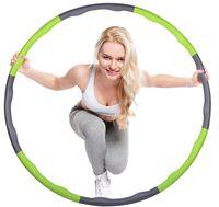 Wholesale diameter cm hula hoop easy to carry removable hula hoop Sponge coat fitness hula hoop fashion Women and man hula hoop D56