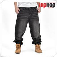 big men overalls - New Trendy HUGE HIP HOP RAP JEANS Waist Inch BIG SIZE Men s Long Cargo Pants Casual Overall Men Outdoors Trousers Cool SPORT