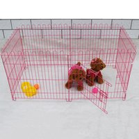 animal crates - Pet Kennel Cat Playpen for Dogs Folding Crate Animal Playpen Iron Wire Cage Indoor Outdoor Dog Pets Fence Exercise Cage JJ0043