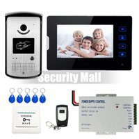 Wholesale DHL Shipping Wired quot Touch Screen Video Door Phone Intercom System Monitor Waterproof RFID Access Camera V Power Supply