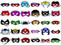 Wholesale Superhero mask Cosplay Superman Batman Spiderman Hulk Thor IronMan Princess Halloween Christmas kids adult Party Costumes Masks